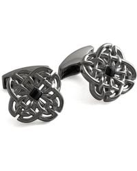 Tateossian - Sterling Silver & Onyx Black Celtic Stone Cufflinks | - Lyst