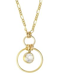 Alison Fern Jewellery - Yellow Gold Filled Mia Necklace - Lyst