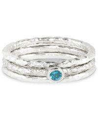 Paul Magen - Sterling Silver & Topaz Tribus Ring | - Lyst