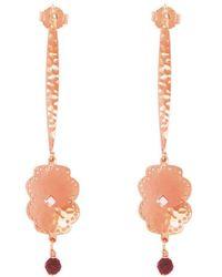 Murkani Jewellery - Rose Gold Plated Beleza Long Earrings - Lyst