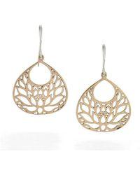 House of Alaia - Large Lotus Flower Earrings In Bronze - Lyst