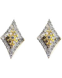 ERAYA 18kt White Gold Daisy Diamond Studs