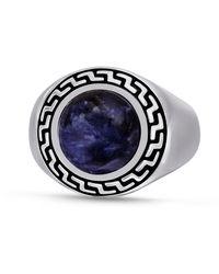 LuvMyJewelry Dark Blue Sodalite Stone R - Metallic