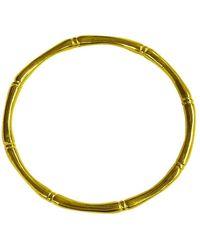 Murkani Jewellery Gold Bamboo Round Bangle - Multicolor
