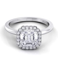 Danhov - Per Lei Shank Asscher Engagement Ring - Lyst