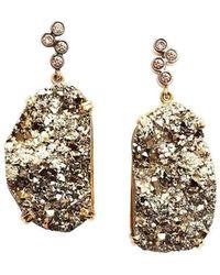 Alexandra Itouna Goldfinger Earrings - Metallic