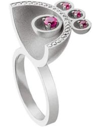 Jaime Moreno Designer Jewelry White Gold, Diamodn & Ruby Family Ring | Jaime Moreno - Multicolor