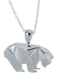 Reeves and Reeves - Origami Polar Bear Necklace - Lyst