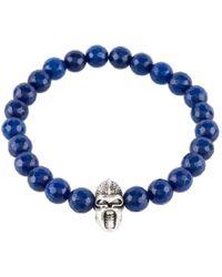 LÁTELITA London - Warrior Bracelet Sterling Silver Dark Blue Agate - Lyst