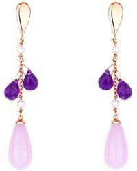 Alexandra Itouna Lilac Rose Gold Earrings - Multicolor