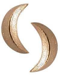 London Road Jewellery - Portobello Rose Gold Starry Night Moon Stud Earrings - Lyst