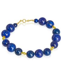 Regenz - Gold Starry Night Bracelet With Songea Sapphires - Lyst