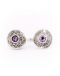 Becky Dockree Jewellery - Silver Amethyst Double Dome Ring - Lyst