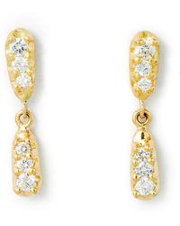 Katherine LeGrand Custom Goldsmith - Happy-go-lucky Diamond Drop Earring - Lyst