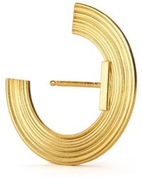 aka jewellery - Gold Plated Silver Orbit Small Radius Lobe Earrings - Lyst