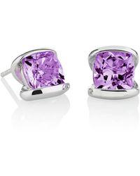 MANJA Jewellery - Infinity Amethyst Earrings - Lyst