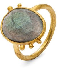 Donatella Balsamo Amazonia Blue Ring - Metallic