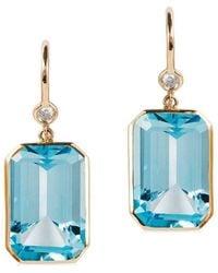 Goshwara Gossip Citrine Emerald Cut Earrings jXoNmz