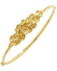 London Road Jewellery Exclusive Falling Leaves Gold Bangle - Metallic