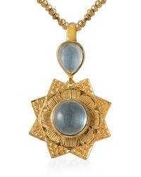 Emma Chapman Jewels Lyra Aquamarine Pendant - Blue