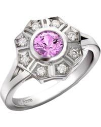 Robert Bicknell Fine Jewellery The Estella Sapphire Diamond R - Pink