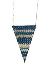 Cosanuova - Flat Multicolor Triangle Necklace - Lyst