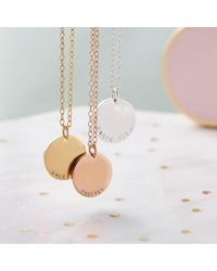 Posh Totty Designs Personalised Solid Disc Necklace 3 - Multicolour