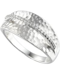 Amore Argento - Rhodium Plated Sterling Silver Wembley Arch Ring - Lyst