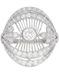 Alexis Danielle Jewelry - Stunning Art Deco Filigree Diamond Platinum Ring - Lyst