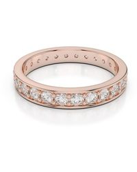 AG & Sons 18kt Rose Gold Full Eternity Ring With Round-cut, Prong-set Diamonds - Metallic