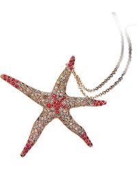 Pinomanna - Rose Gold & Sapphire Natural Chic Starfish Necklace | - Lyst