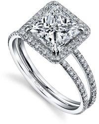 Harry Kotlar - Princess Cut Arabesque Ring - Lyst