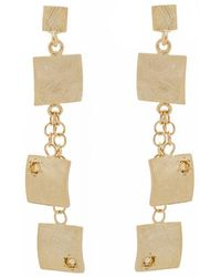 Mishanto London - Veneto Drop Earrings With Citrine - Lyst