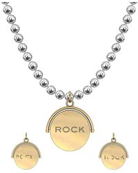 """Allumer Yellow Gold Plated Flicker Of Light Necklace - """"rock"""" - Multicolor"""
