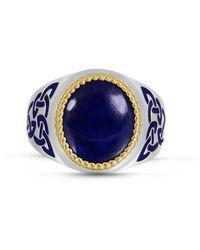 LuvMyJewelry Lapis Lazuli Stone R - Metallic
