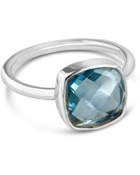 Lily Blanche Luminous Silver Blue Topaz Ring