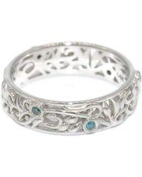 Custom Made By Irina - Blue Diamonds Eternity Ring - Lyst