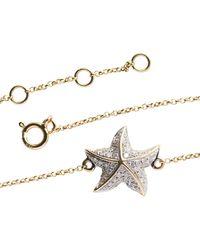 Libelula Jewellery 18kt Yellow Gold Starfish Bracelet - Metallic