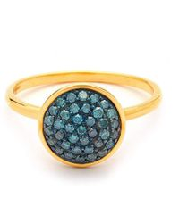 Syna - 18kt Blue Diamond Chakra Ring - Lyst