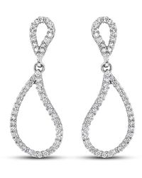 Isaac Westman Diamond Teardrop Earrings - Metallic
