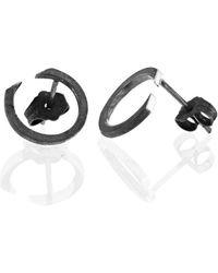 Ilda Design Circling Oxidised Earrings - Metallic