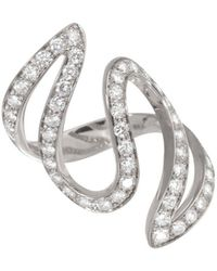 Dada Arrigoni Jewelry - Ivy Pave White Gold Ring - Lyst