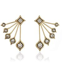 Anahita Jewelry - 18kt Gold Peacock Earrings - Lyst