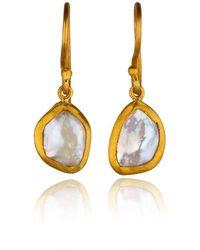 Lika Behar Collection - Gold Karin Pearl Drop Earrings - Lyst