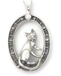 Donna Pizarro Designs Sterling Silver Panda Bear Necklace hqv1hNOcX