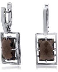 Drukker Designs - Sterling Silver Smoky Quartz Earrings - Lyst