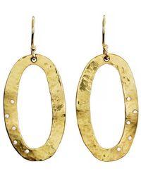 freeRange JEWELS - Oval Diamond Hammered Disc Earrings - Lyst