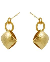 Heather O Connor - Gold Pillow Drop Earrings - Lyst