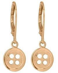 Edge Only | Button Drop Earrings | Lyst