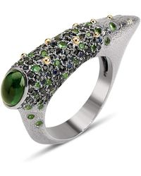 Suciyan - Sterling Silver Earthburst Tourmaline And Sapphire Ring - Lyst